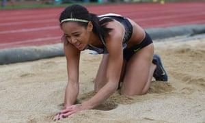 Katarina Johnson-Thompson struggled in the long jump at the Götzis Hypo-Meeting in Austria