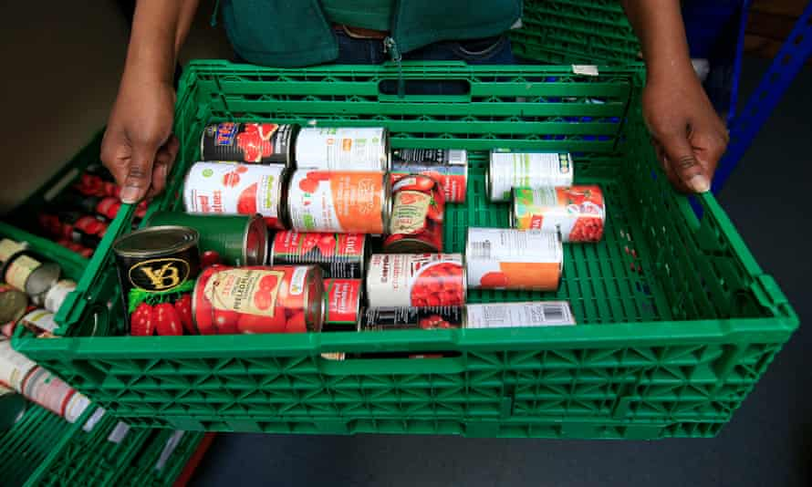 Stocks of food at the Trussell Trust Brent food bank.