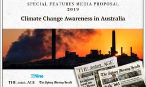Nine Publishing's proposed climate advertising feature – exposure at a cost.
