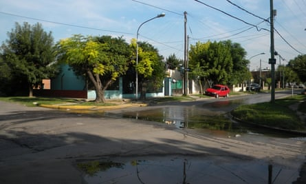 The remnants of flooding in Las Tunas neighbourhood.