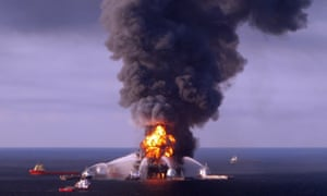 Cost guard battling to put out fire on Deepwater Horizon