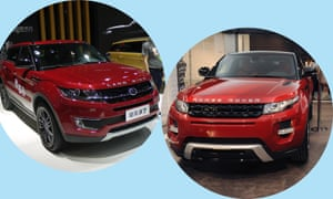 A court in Beijing rules that five features of the Range Rover Evoque (right) were replicated in Jiangling Motor Corporation's Landwind X7.