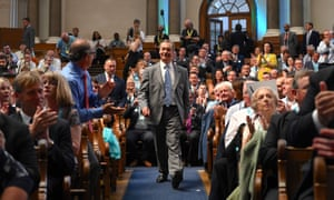Brexit Party leader Nigel Farage addresses party members and delegates as he speaks at an event to introduce prospective parliamentary candidates, in central London on August 27, 2019.