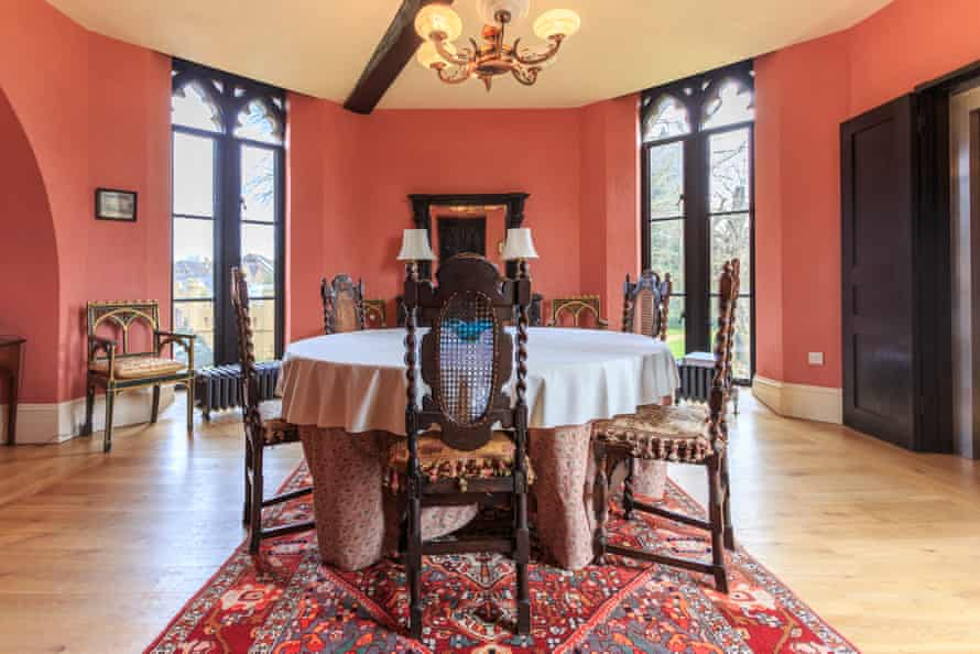 the dining room at Hadlow Tower
