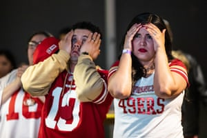 San Francisco 49ers fans look stunned.