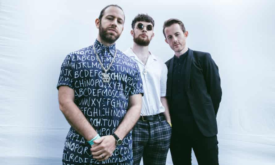 Chase and Status, with centre, Tom Grennan