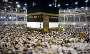 Millions of Muslims visit Mecca for the hajj pilgrimage to Islam's holiest shrine, the Kaaba, at the Grand Mosque.