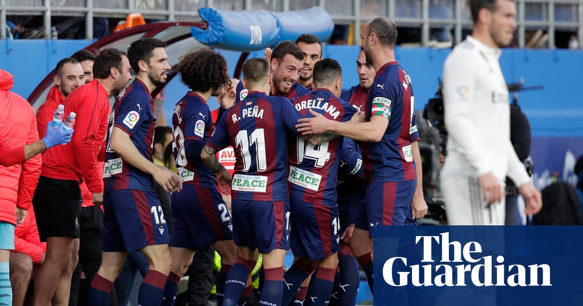 8691e5283 Real Madrid sink to embarrassing 3-0 defeat at Eibar in La Liga ...