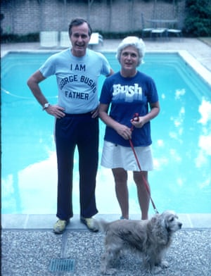 George and Barbara during the campaign for the presidential primary elections in 1978.