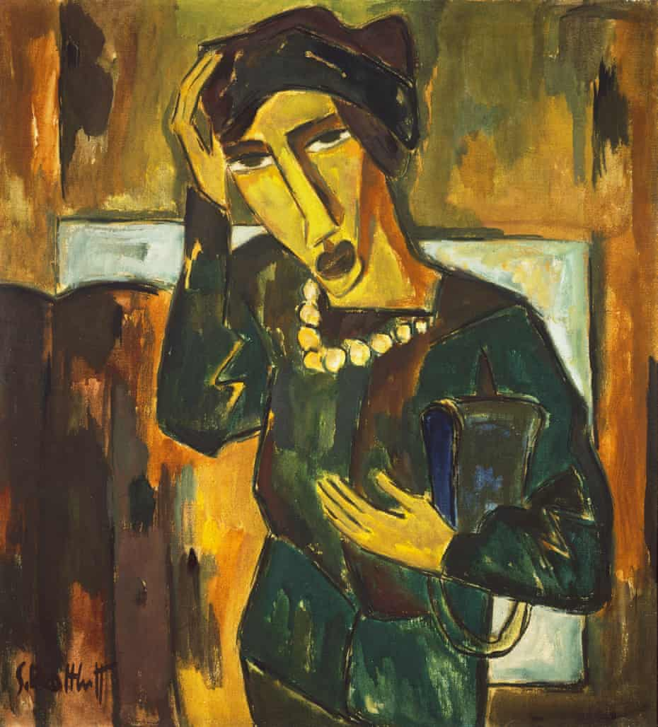 Woman With a Bag by Karl Schmidt-Rottluff … 'The Scream for cool kids', according to Stuart Maconie.