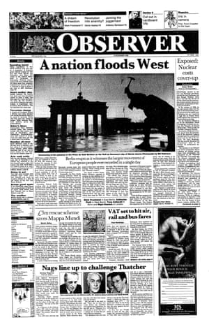 12 November 1989. The Berlin Wall comes down and communism crumbles.