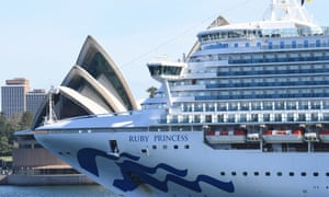 The Ruby Princess leaves Sydney Harbour on Thursday