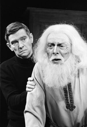 Tom Courtenay and Freddie Jones in Harwood's best known play, The Dresser, at the Queen's theatre, London, 1980. The play explores the relationship between an actor and his personal assistant.