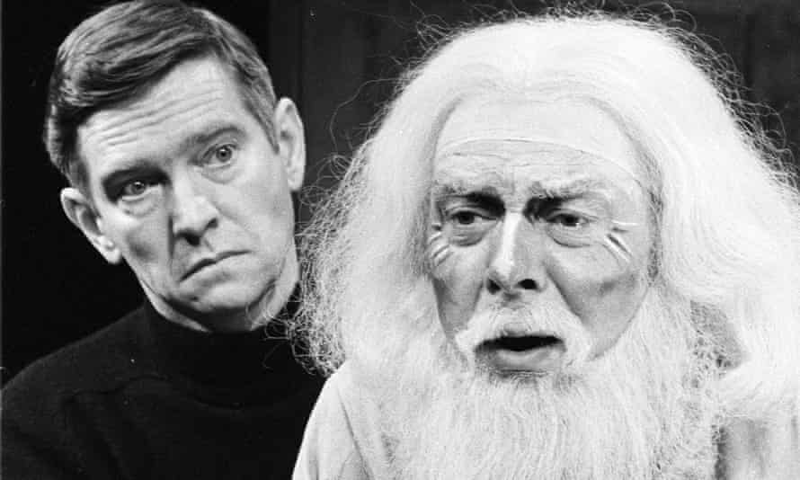 Freddie Jones and Tom Courtenay, left, in The Dresser at the Queen's theatre, London, in 1980.