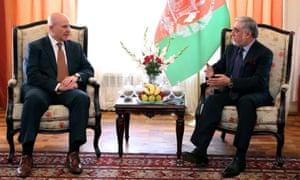 McMaster met Abdullah Abdullah, Afghan chief executive, in Kabul in April 2017.