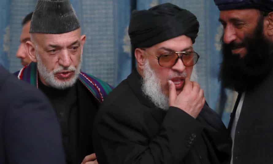 Afghanistan's former president Hamid Karzai (left) with Stanikzai.