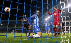 Glenn Murray scores a late winner for Brighton against Crystal Palace in the FA Cup.