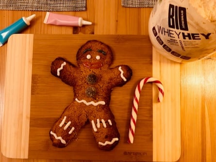 Catch me if you can… It's a gingerbread man packed with protein