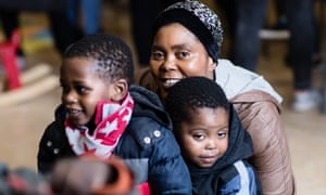 A family at the Magpie project in east London
