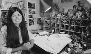Jill Barklem in her studio in 1983.