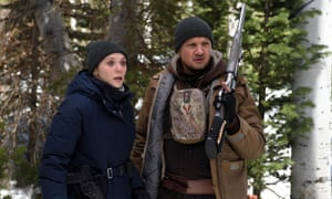 Into the woods … Elizabeth Olsen and Jeremy Renner in Wind River.