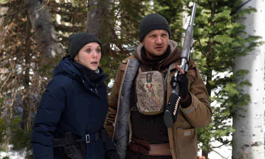 Into the woods … Elizabeth Olsen and Jeremy Renner in Wind River.