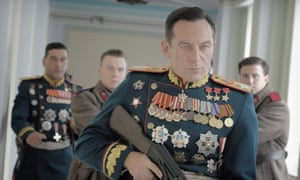Jason Isaacs in The Death of Stalin … 'Presumably, someone more expensive wasn't available.'