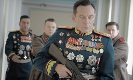 Jason Isaacs as Marshal Zhukov in The Death of Stalin.