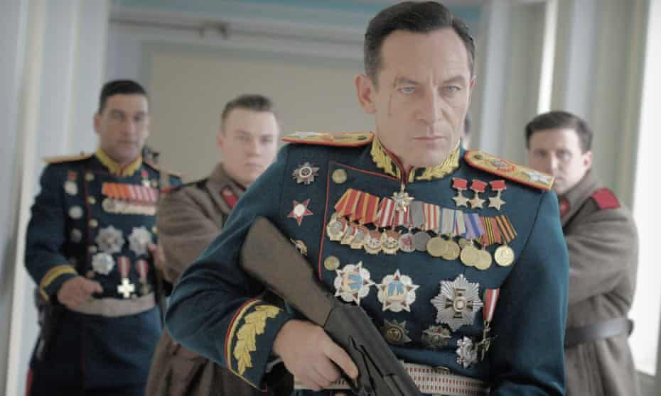 Jason Isaacs as Field Marshal Zhukov in 2017's The Death of Stalin.