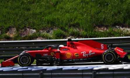 Sebastian Vettel had to retire on the first lap after a collision with his Ferrari teammate, Charles Leclerc.