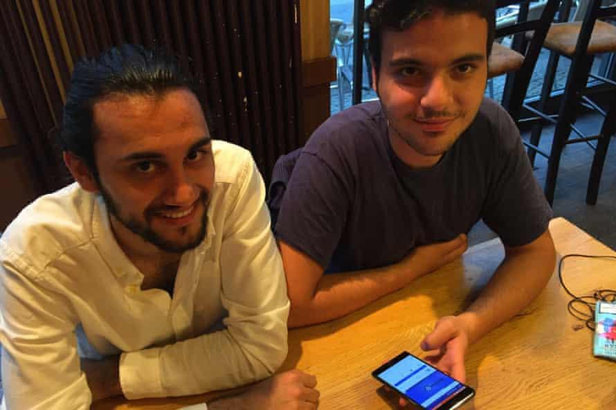 Munzer Khattab (left) and Ghaith Zamrik