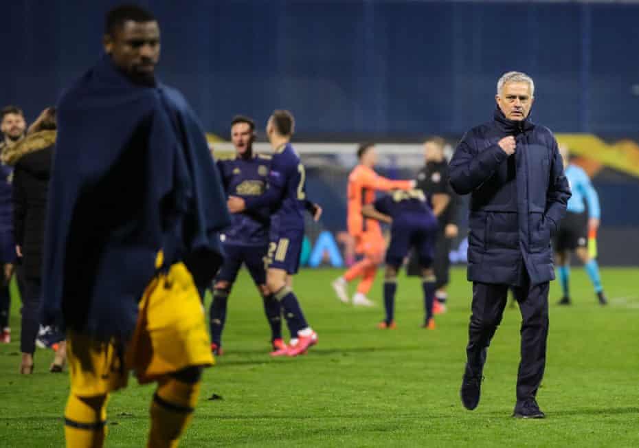 José Mourinho reflects on Tottenham's defeat at Dinamo Zagreb.