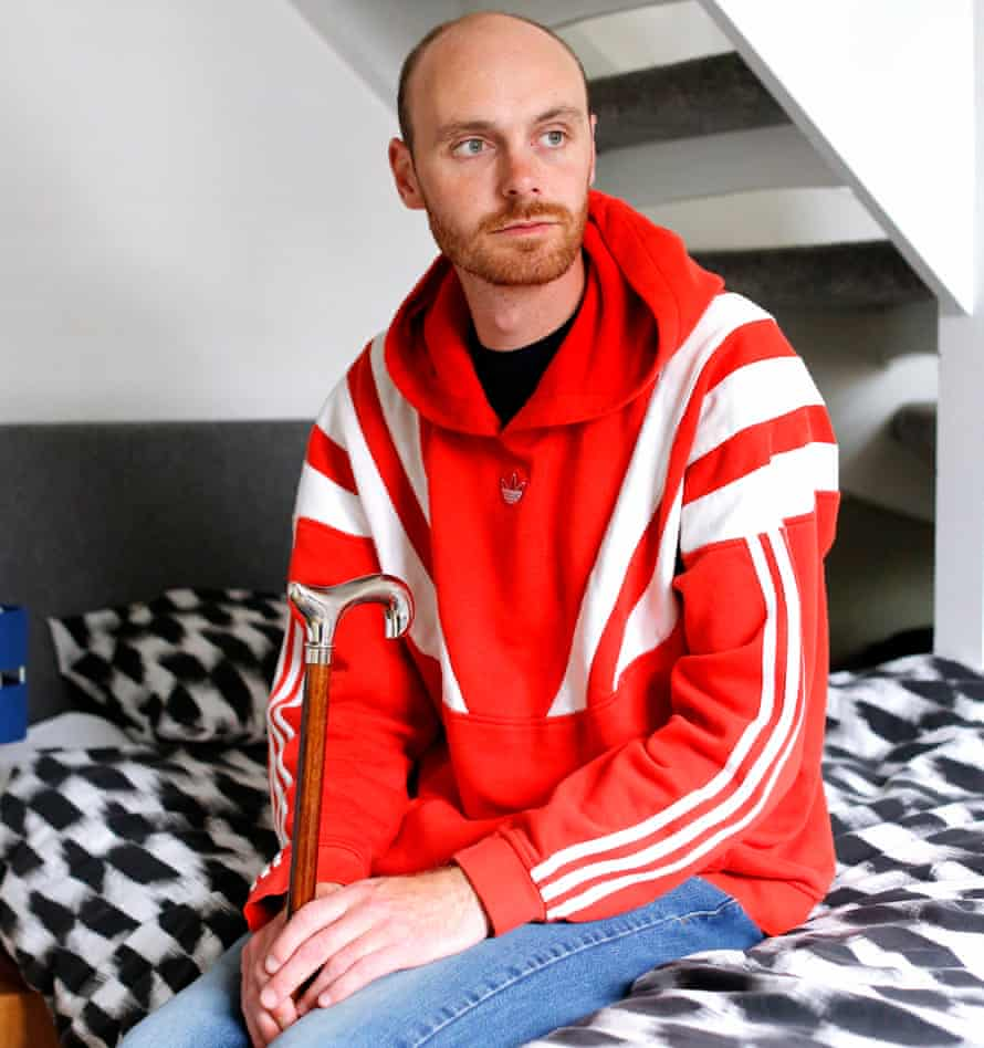 Ben French, who suffered multiple injuries after his van was hit by a lorry on a smart section of the M6