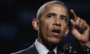 Barack Obama speaks in Atlanta Monday.