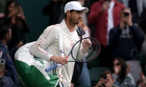 Back on familiar turf: Andy Murray walks onto centre court for his Gentlemen's Singles second round match against Oscar Otte