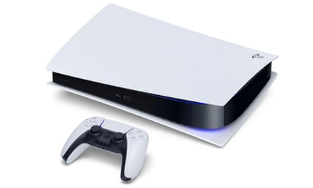 More to come from the console? The Sony PlayStation 5 Digital Edition and DualSense controller.