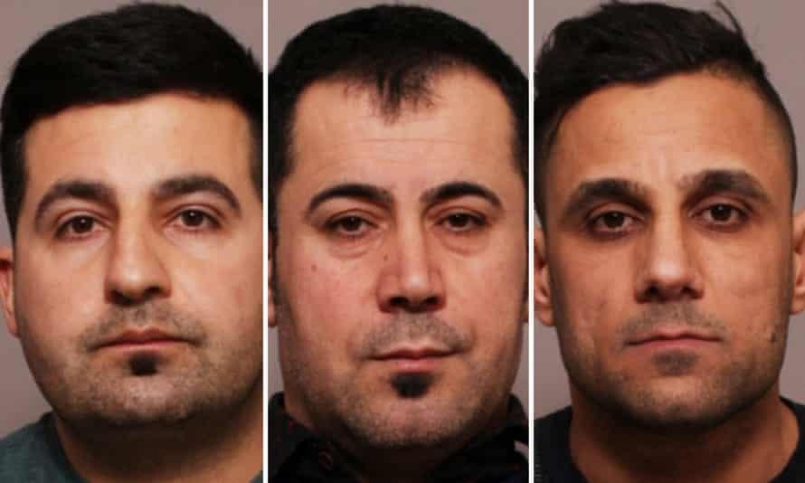 Left to right: Hawkar Hassan, Arkan Ali and Aram Kurd.