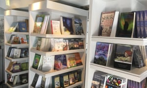 Independent bookshop at the Scottish Storytelling Centre, Edinburgh, UK.