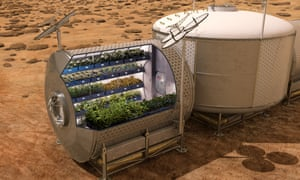 Nasa's Veggie system for growing fresh food on future spacecraft and on other planets.