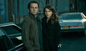 Matthew Rhys and Keri Russell as undercover Russian spies in TV drama The Americans