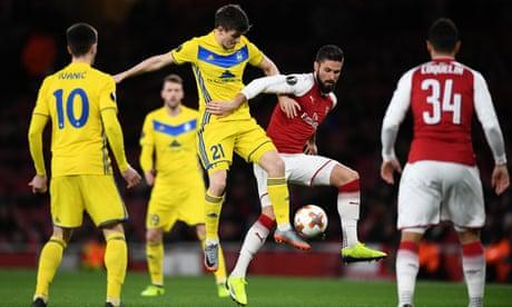 Arsenal v Bate Borisov: Europa League – live!
