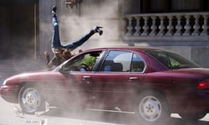 Stuntwoman Tammie Baird is hit by a car for the video to Chris Brown's Next 2 You.