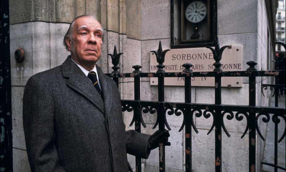 Jorge Luis Borges at the Sorbonne in Paris, 1978.
