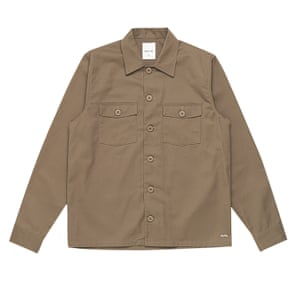 Brown overshirt with two chest pockets