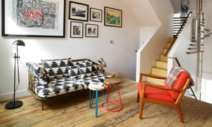 'It was quite eccentric and strange': the living room, after restoration.
