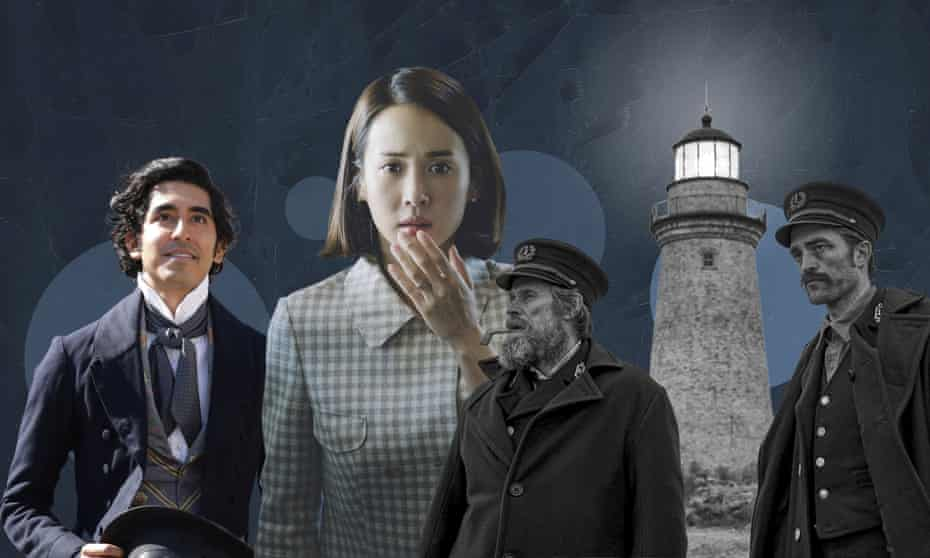 From left, David Copperfield, Yeo-jeong Jo in Parasite, Willem Dafoe and Robert Pattison in The Lighthouse