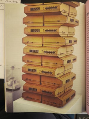 DIGITAL CLOCK RADIO REPLICA IN CARDBOARD, FROM ZOETROPE MAGAZINE, STUDIO, NYC photograph by Michael Stipe.