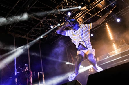 Tyler, the Creator performs during the 12th Afropunk festival in Brooklyn in 2017.