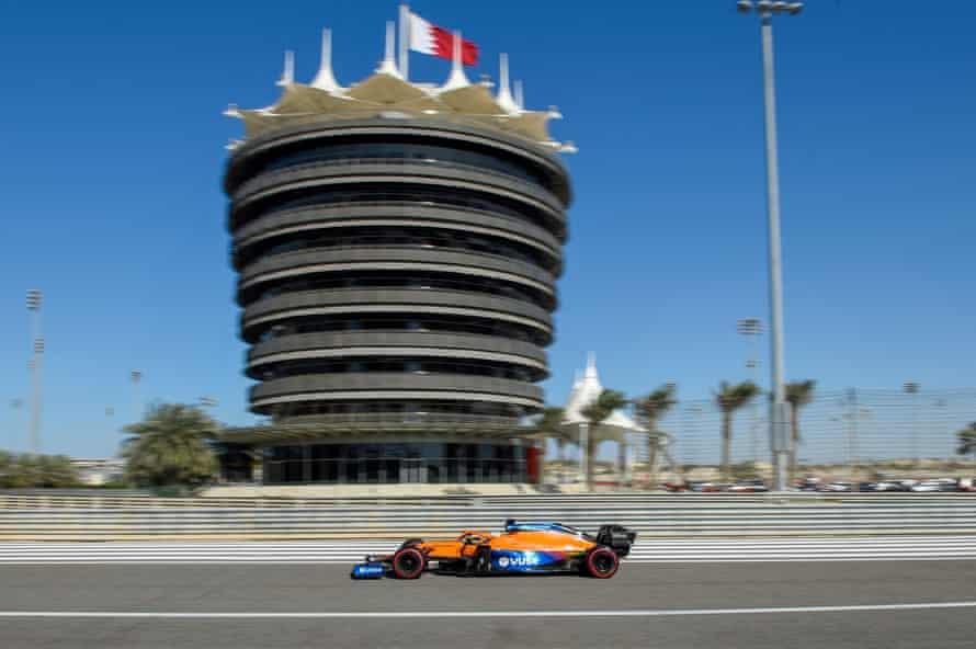 Ricciardo during pre-season testing in Bahrain.