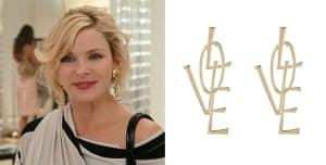 Samantha Jones-inspired gold LOVE stud earrings, £5.99, newlook.com.